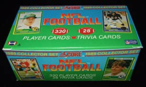 1989 Score Football Complete Mint 330 Card Factory Set. This Set Is Loaded with Rookie Cards Including Barry Sanders, Troy Aikman, Cris Carter, Deion Sanders, Tim Brown, Michael Irvin, Thurman Thomas, Derrick Thomas and Many More! Tons of Stars Including