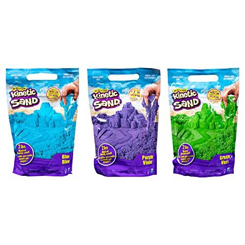 Arena cinética de 2 libras para mezclar, moldear y crear, para edades de 3 y más (colores aleatorios)