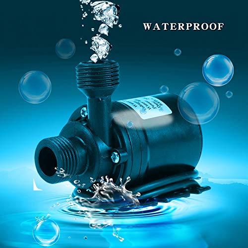 Wankd DC 12V 800L / H 5M dompelwaterpomp voor fontein zwembad zonne-omloopsysteem watercirculatiesysteem (zwart)