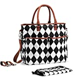 Premium Baby Diaper Tote Bag + Matching Changing Pad and Stroller Strap