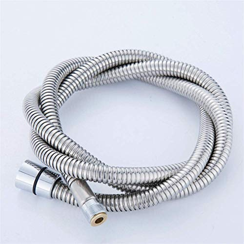 Shower hose,Stainless Steel Chrome Surface Pull Out Shower Pipe,bath Basin Kitchen Drain Faucet Special Hose(Color:2m) flexible