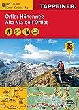 3D-Wanderkarte Ortler-Höhenweg: Cartina escursionistica 3D Alta Via dell'Ortles (Kombinierte Sommer-Wanderkarten Südtirol / Topografische Karte + 3D-Panoramakarte)