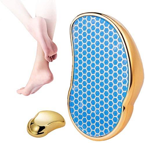 CRETUAO Archivo pie, Amoladora pie Vidrio Nano portátil para pies Secos y húmedos, lijando la Piel, Callos y Piel Dura, la Mejor Herramienta pedicura Cuidado los pies removedor,Oro