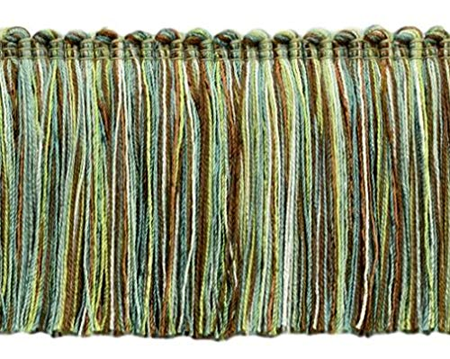 4.6 Meter Value Pack - Brown, Bright Green, White, Teal 76mm Brush Fringe Style# 0300RWBPK Color: Cocoa Lime - VL12 (15 Ft / 5 Yards)
