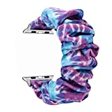 Scrunchie Elastic Watch Bands Multicolor Flannel...
