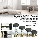 Kindlyperson Einstellbarer Bettrahmen mit Gewinde, Anti-Shake-Werkzeug, Teleskopstütze, Anti-Shake-Werkzeug für Schrankbetten, Schränke, Stühle und Sofas (1er-Pack | 47-64 mm)
