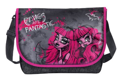 Undercover Borsa Messenger, Monster High, nero - Nero/Rosa, MH13764