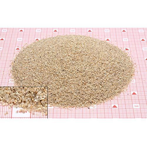 Euroquarz Quarzsand 0,7-1,2 mm | 25 kg PE-Sack geeignet für Sandfilter im Pool- + Teichbau