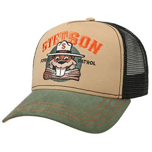 Stetson Gorra Trucker Forest Patrol Hombre - de Baseball Malla Beisbol Snapback, con Visera, Visera Verano/Invierno