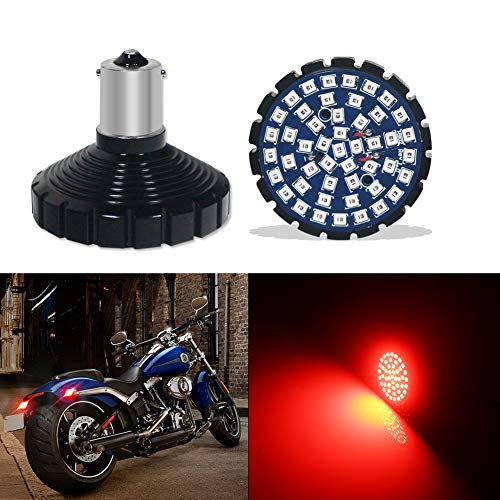 TurningMax 1156 Red LED Rear Turn Signal LED Bulb No Hyper Flash for Motorcycles Harley Davidson
