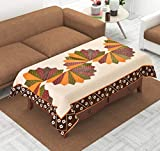 FAIRY HOME™ Designer Center Table Cover(Printed Maroon) (Centre Table Cover)