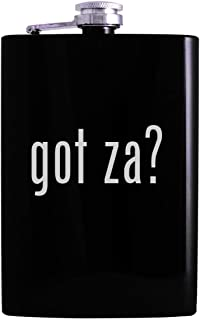 got za? - 8oz Hip Alcohol Drinking Flask, Black