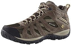 commercial Columbia Men's Redmond Medium Waterproof, breathable, grippy hiking shoes, cordovan, dark … columbia hiking boots