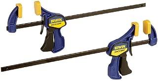 IRWINQUICK-GRIPOne-Handed Mini Bar Clamp 2 Pack, 12