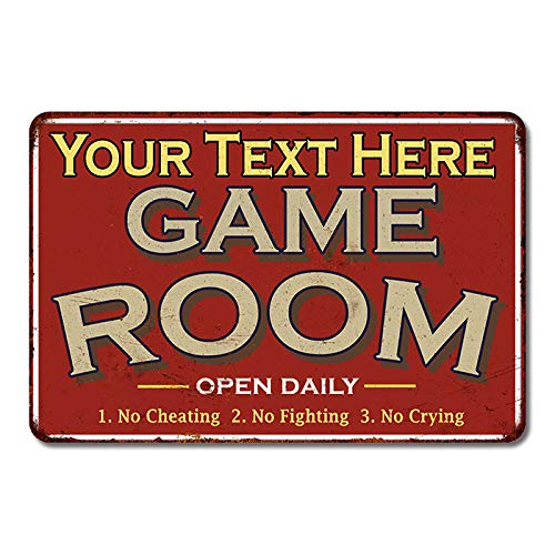 Your Name Game Room Decor Personalized Sign Wall Signs...