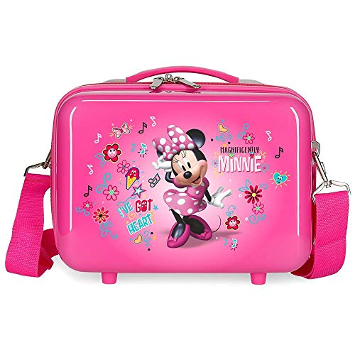 Disney Love Minnie Nececer Adaptable Rosa 29x21x15 cms ABS
