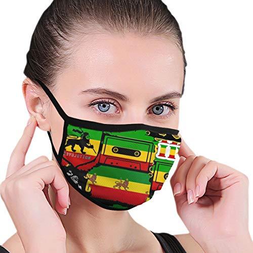 KIMDFACE Gesichtsbedeckung,Der Löwe von Juda Rasta Rastafari Jamaica Reggae,Sturmhaube Unisex Wiederverwendbar Winddicht Staubschutz Mund Bandanas Outdoor Camping Motorrad Running