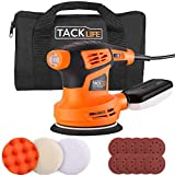 TACKLIFE Eccentric Sander (280W, 125mm), Upgrade with 10 pcs of Sanding Discs, 3 pcs of Polishing Pads and 1 portable bag Equipped with Dust Box | PRS02A