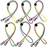 6 Stück Buntes Mundschutz Lanyard, Verstellbare Lanyard mit Karabinerhaken für Kinder und Erwachsene, Ewiederverwendbar Ohrhalter Seil