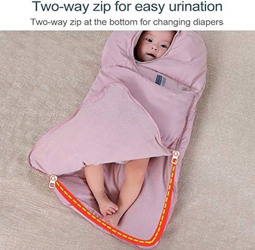 Luoshan Sac de Couchage for bébé épaissie Chaud du Nouveau-né Quilt, Taille: 90 cm, for 1-2 Ans (Rose) (Color : Pink) Blue