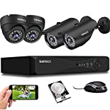 <span class='highlight'>SANSCO</span> <span class='highlight'><span class='highlight'>1080p</span></span> HD CCTV Camera System with 1TB Hard Drvie, 4 <span class='highlight'>Channel</span> 5MP <span class='highlight'>DVR</span>, 4pcs 2MP Weatherproof Outdoor Camera (Dome and Bullet , Night Vision, Vandal Proof Casing, Motion Detection, Email &APP Alert)