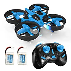 Mini Drone for All Level Player: The robust and fantastic 360° flips and rolls stunt come handy even for the drone newbies; 2.4Ghz Spread Spectrum technology adopted for anti-interference; More stable and flexible with 6-axis gyro stabilization syste...