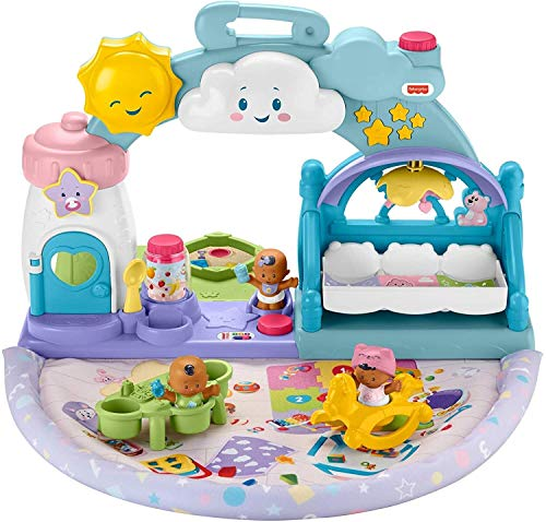 Fisher-Price Little People 1-2-3 Babies Playdate Musical playset with 3 Black Baby Figures for Toddlers and Preschool Kids