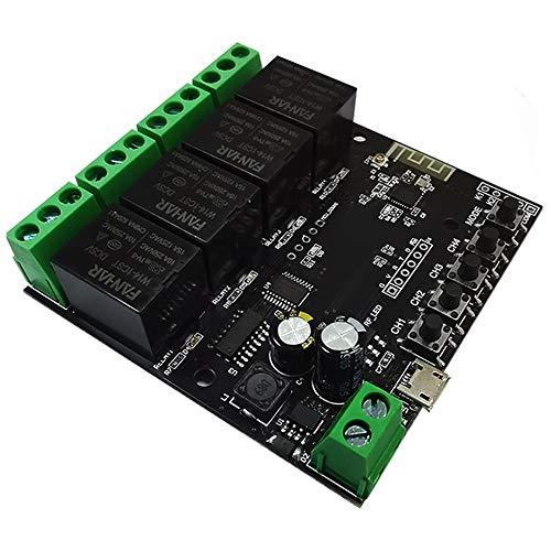Mogzank 4CH Tuya Interruptor MóDulo de Interruptor WiFi Relé InaláMbrico AplicacióN de Vida Inteligente Control Remoto Temporizador Inteligente para Interruptor de Hogar Inteligente