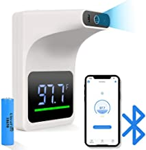 Gorilla Gadgets No-Contact Infrared Wall Mount Thermometer with Bluetooth and Fever Alarm Quick Accurate Readings for Scho...