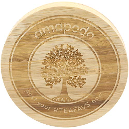 amapodo Bambus Deckel Ø85mm für Tassen und Teekannen, auch als Teesieb Untersetzer perfekt geeignet