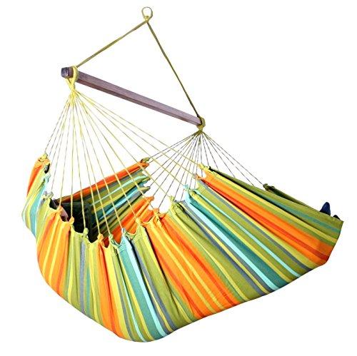 MacaMex hangstoel XXL Cayo Gigante Verde - origineel Zuid-Amerika katoen groen