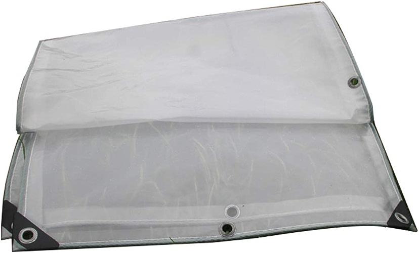 KYSZD-Baches Transparent Bache épaissie Bordure perforée Imperméable Crème Solaire Facile à Plier Feuille de Plastique La fenêtre Balcon Récolte de Fleurs Serre Auvents de Tente