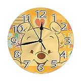 yongxing Reloj de pared decorativo silencioso sin dril a pilas redondas fácil de leer casa o oficina
