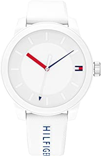 Tommy Hilfiger Mens Quartz Wrist Watch, White Silicone - 1791743
