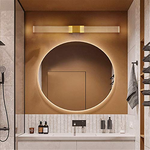Luz frontal LED nórdica con espejo, 3000 K, lámpara de gabinete con espejo de baño, luz de maquillaje ultrabrillante, blanco cálido, lámpara de pared de tocador impermeable IP44, accesorio de iluminac