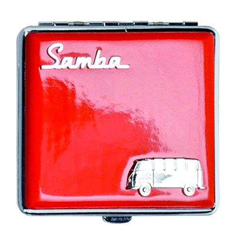 VW | Sigarettenetui | Samba | Origineel | licentie van Volkswagen | etui I voor 18 sigaretten I robuust metaal | met metalen klemmen | rood