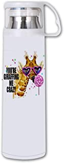 Bernie Gresham Thermos You're Giraffing Me Crazy Double Wall Stainless Steel Vacuum Insulated Water Bottle Keeps Your Drink Hot & Cold (350 ml)