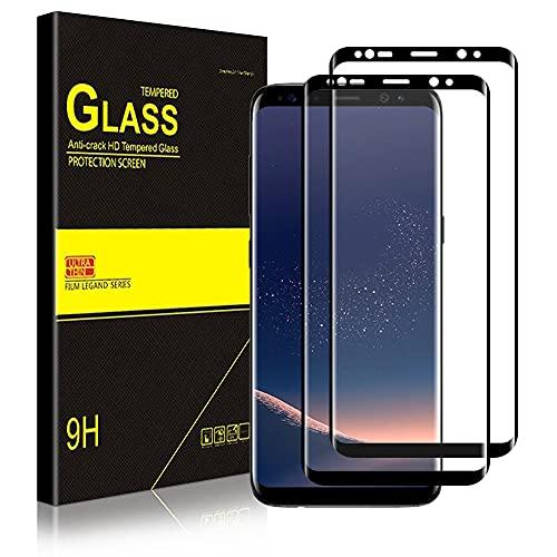 wsky [2 Stück] Panzerglas Schutzfolie für Samsung Galaxy S8, 9H Härte, Bläschenfrei, Anti-Kratzer/Bläschen/Fingerabdruck/Staub Displayaschutz, Panzerglasfolie für Samsung S8