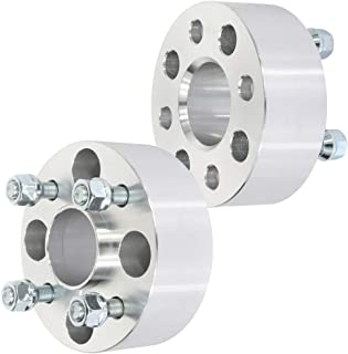 Silver-4Pcs Roc2017 6x5.5 Wheel spacers,1 25mm Thick 6x5.5 with 14x1.5 Studs Wheel spacers Compatible with Chevy Silverado 1500 GMC