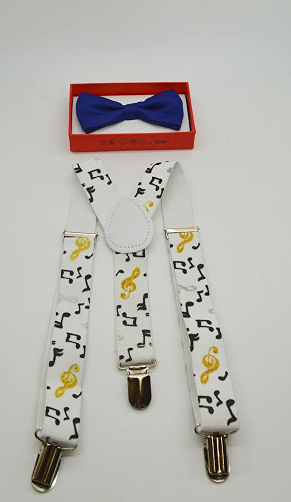 Cute Suspender and Blue Bow Tie for Toddler Baby Boys Girls Child