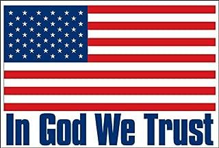 USA Flag: in God We Trust Sticker (Bumper Police America Patriotic Christian)