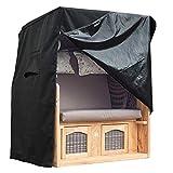 Funda protectora para sillón de playa, resistente al invierno, 600D Oxford prémium, a los rayos UV, con orificios ventilación, bolsa transporte, cierre clic, impermeable, sillones playa