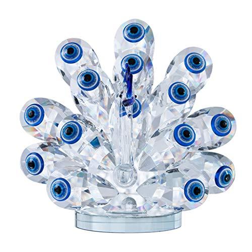 WYBFZTT-188 Adorno de estatuilla Animal de Cristal con Azul Malvado Ojo Encanto Miniatures Escultura de Aves for la decoración de la Oficina en el hogar Regalo Coleccionable