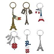 Im Set: Das Set von Juvale umfasst 6 Schlüsselanhänger mit Paris-Motiven, darunter der Paris-Schriftzug in den Farben der Französischen Flagge, Eiffelturm und Arc de Triomphe Praktisch: Damit sind die Schlüssel organisiert und man zeigt seine Liebe f...