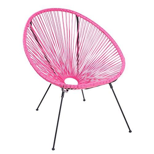 Invicta Interior Moderner Acapulco Sessel pink wetterfest Outdoorstuhl Relaxsessel Stuhl Gartenstuhl