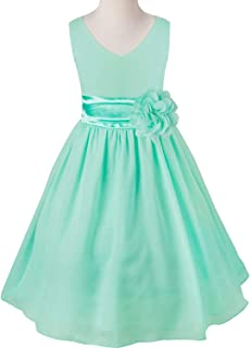 Surprise S Fashion Kids Girls Chiffon Flower Wedding Bridesmaid Summer Party Dress Floral Pageant Sleeveless Gown
