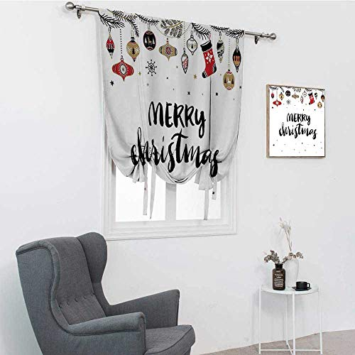 GugeABC - Sombras de Navidad para ventana para el hogar, cita de Feliz Navidad con pincel moderno, diseño de frase de Noel creativa, diseño inspirador, multicolor de 88,9 x 162,6 cm