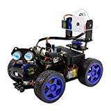 UNO R3 Smart Robot Car Kit, Cámara WiFi Control Remoto Stem Education Toy Car Kits robóticos compatibles con Arduino 4WD Camera Video Scratch Programming, Intelectual Desarrollo Juguetes