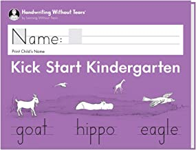Learning Without Tears - Kick Start Kindergarten Student Workbook, Current Edition - Handwriting Without Tears Series - Pre-K Writing Book - Capital and Lowercase Letters - for School or Home Use