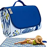 Beach Blanket Picnic Blanket Outdoor Mat Extra Large Waterproof Sand Proof Camping Blanket Lightweight Folding Portable Travel Blanket for Family Park Beach Grass